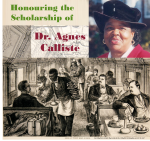 Honouring Dr. Agnes Calliste